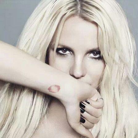 Britney Spears rosa Lábios Tatuagem