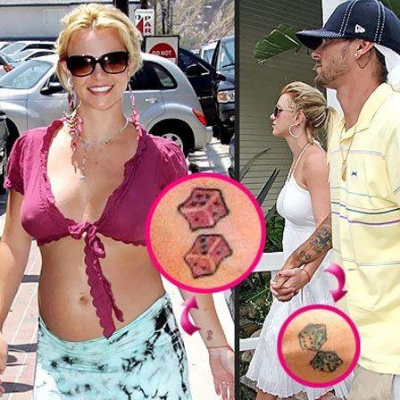 Britney tatuagem dos dados