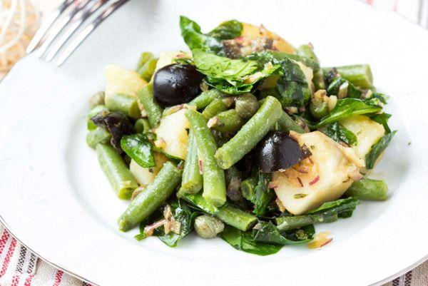 salada de feijão verde simples