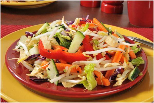 Salada chinês chop