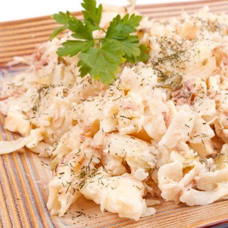 Frio Macarrão e Salada de Atum