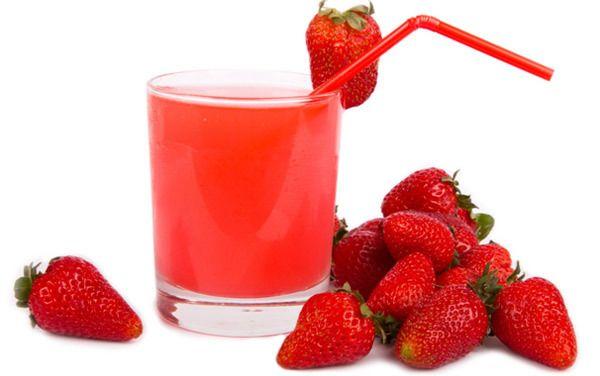 benefícios do suco de morango para a pele