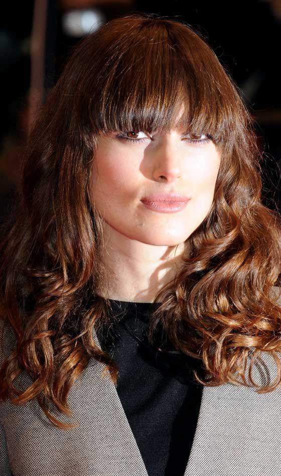 Simétrica Frente Bangs Com soltos em camadas Curls