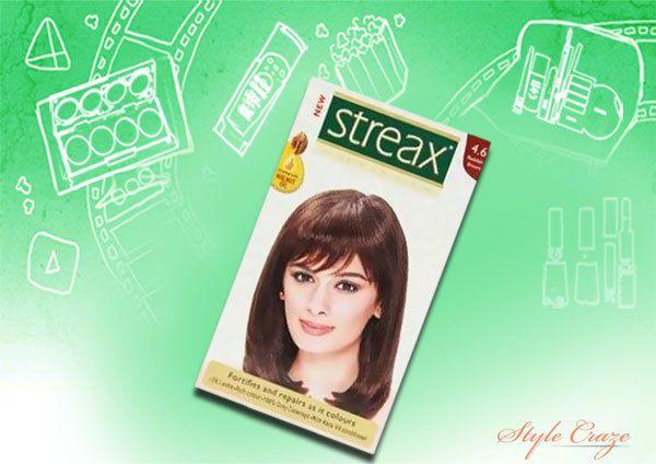marrom cor vermelha streax 4.6 cabelo