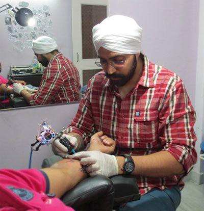 estúdio de tatuagem da pele arte