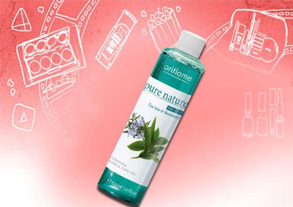 Oriflame Pure Tea Organic Nature Tree Oil e Rosemary Purificante Lave e Gel Tone