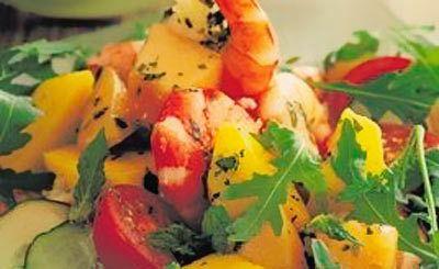 Melão e salada de manga