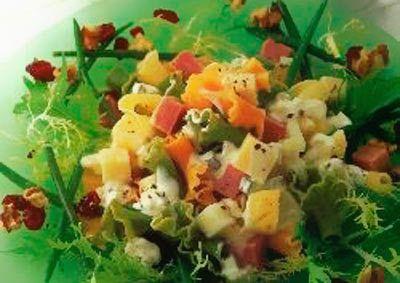 Salada da massa frutado
