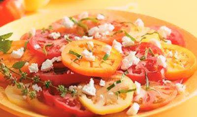 Salada de tomate alho