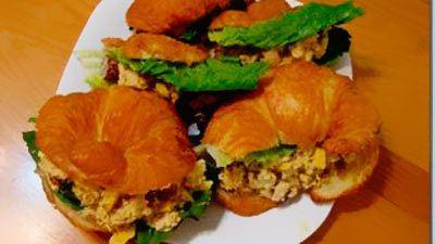 Salada de manga e frango