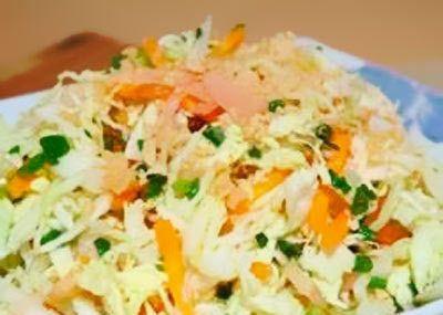 Crunchy Nut salada de repolho