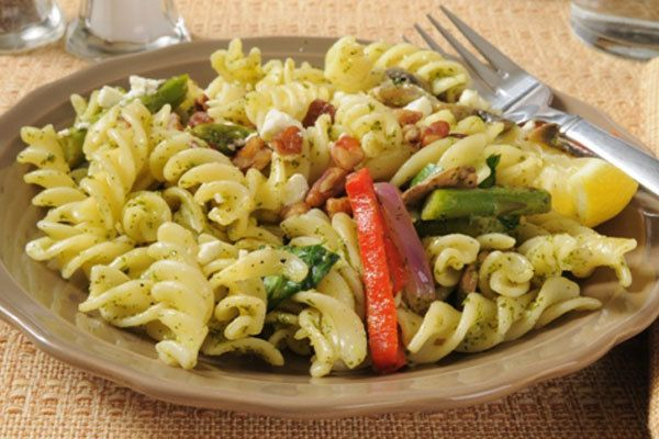 espinafre e cogumelos massas