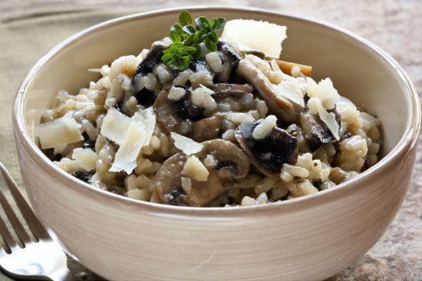risoto de cogumelos