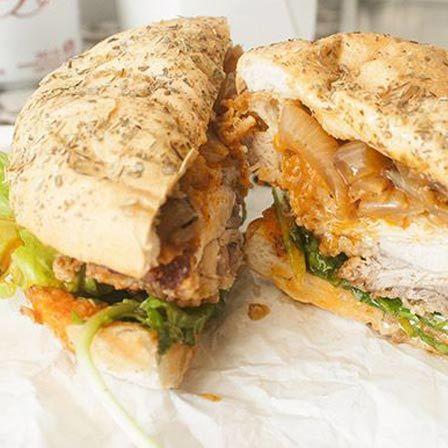 baixa caloria receitas de sanduíches de frango