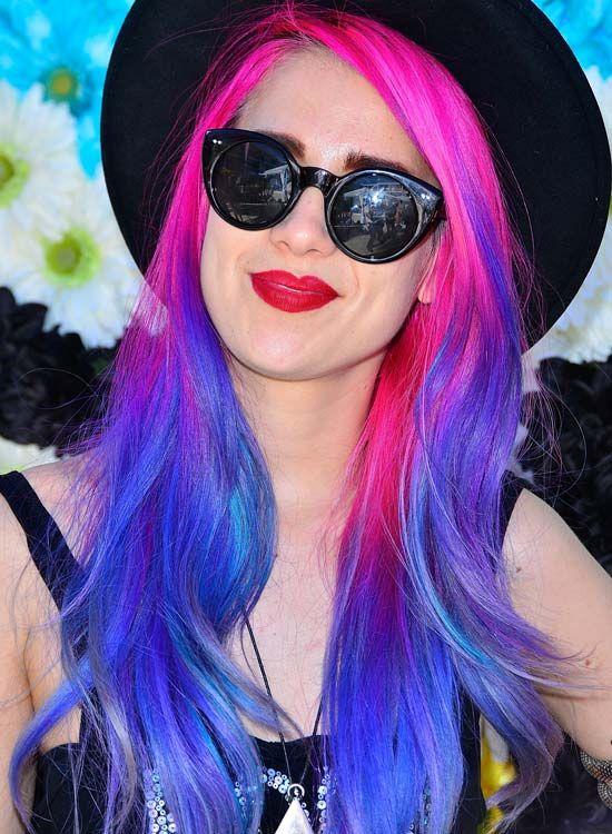 Dazzling-camadas-Waves-em-de-rosa e azul