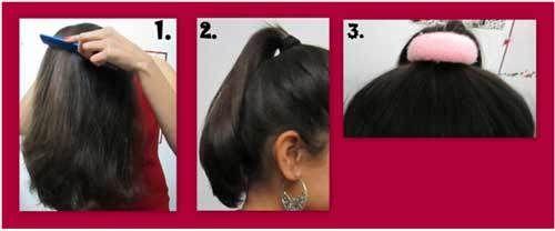 cabelo tutorial topo nó