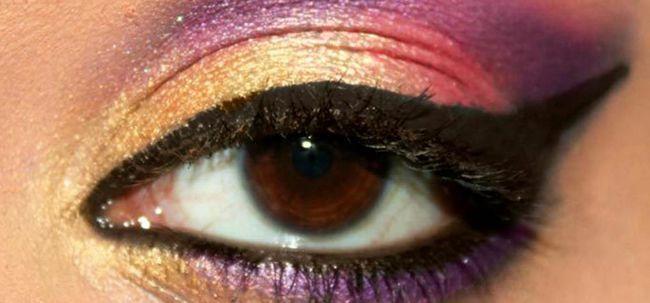 Vibrante Bollywood Inspirado Composição do olho - tutorial passo a passo com imagens Photo