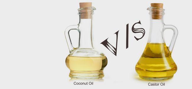 Quais são as diferenças entre o óleo de rícino e óleo de coco? Photo