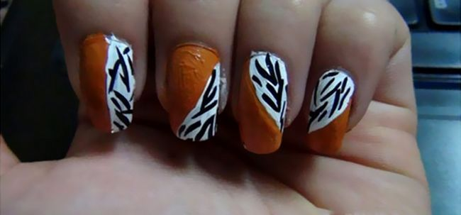 Selvagem Nails - Unhas animal arte Tutorial Photo