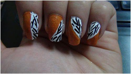O design da arte do prego da cópia da zebra