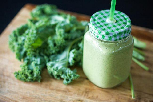 Sementes Kale Smoothie Com Chia