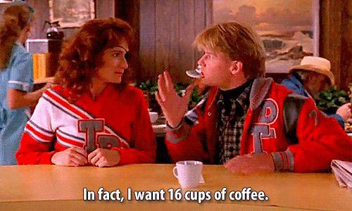 Chá E a ingestão de café